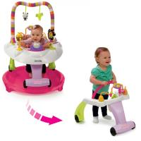 Kolcraft Baby Sit & Step® 2-in-1 Pink Activity Center